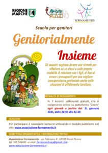 Locandina corso per genitori 2021: Genitorialmente Insieme